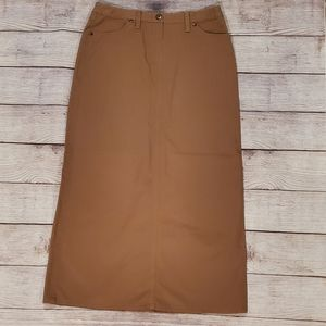 Brooks Brothers long brown cotton skirt